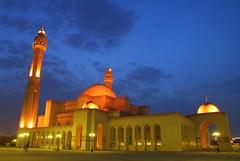 AL FATEH MOUSQUE مسجد الفاتح (EBRAHIM JAFFAR) Tags: sunset bahrain al fateh manama مسجد البحرين mousque مملكة الفاتح المنامة colourartaward ibojamri