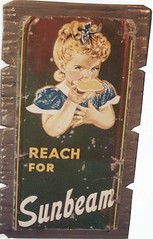 Antique Tin Sign (Imagination Unincorporated) Tags: sign advertising antique sunbeam tinsign barnwood