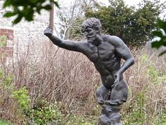 7887 Classical style Bronze statue of a man (Andy - Busyyyyyyyyy) Tags: 20170216 aberlleiniog bbb bronze man mmm nnn nude sss statue ynysmôn