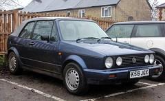 K519 JGX (2) (Nivek.Old.Gold) Tags: 1992 volkswagen golf clipper cabriolet 1781cc karmann autobahnbeckenham car beckenham london uk
