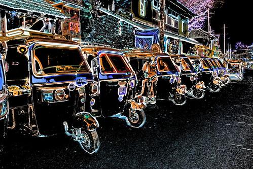 India - Karnataka - Gokarna - Auto Rickshaws - 3b