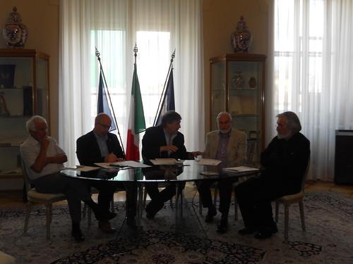 Da sinistra a destra: Italo Montiglio, Gianluigi Chiozza, Antonio Devetag, Antonio Luisa