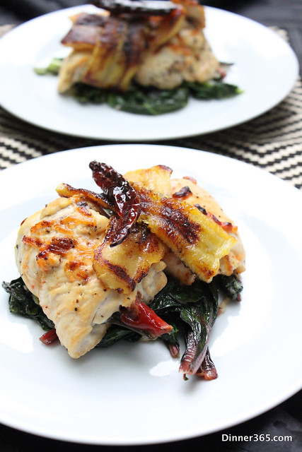 Day 162 - Stuffed Chicken with Swiss Chard and Plantain