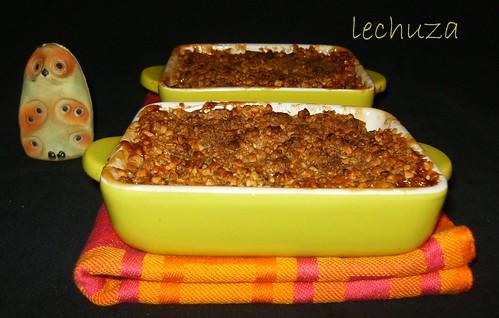 Crumble manzana-horneados