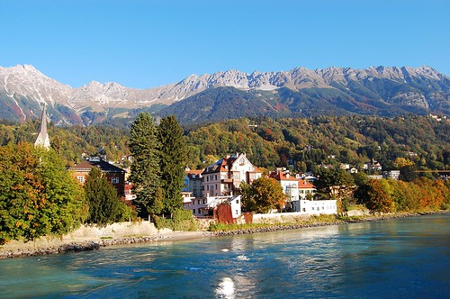 Inn River and Alps