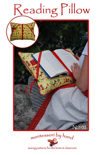 Reading Pillow Printed Pattern Front