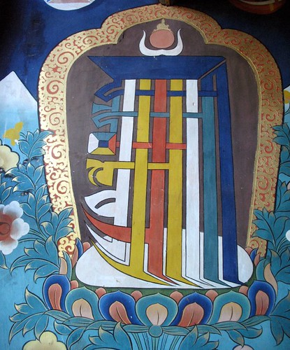 Kalachakra symbol, wheel of time.