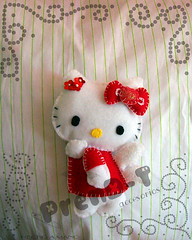 ♥ Hello Kitty♥ (PrenD-T♥) Tags: red rojo hellokitty felt explore feltro gatita fieltro