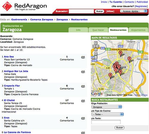 Resultados de búsqueda y geolocalización