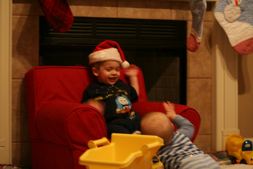 Eli's first visit to Santa