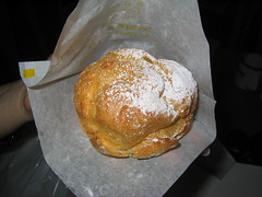 Beard Papa's: Vanilla cream puff (in paper wrap)