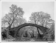 one-arch bridge (kzappaster) Tags: bridge trees winter bw snow landscape four blackwhite olympus greece zuiko 43 thirds stonebridge themoulinrouge e500 zd blueribbonwinner 1122mm thessaly 35faves alamanou anawesomeshot aplusphoto diamondclassphotographer superhearts ysplix platinumheartaward