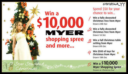 Win $10,000 MYER Shopping Spree