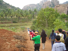 What is vaibhav trying?? (aanjhan) Tags: trekking bangalore rappelling rbin ramnagar chimneyclimbing