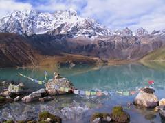 Gokyo Lake (craigkass) Tags: nepal mountains trekking hiking lakes backpacking himalaya gokyo cubism impressedbeauty diamondclassphotographer flickrdiamond goldstaraward himalayanregions1