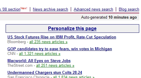 Personalize Google News (Step 1)