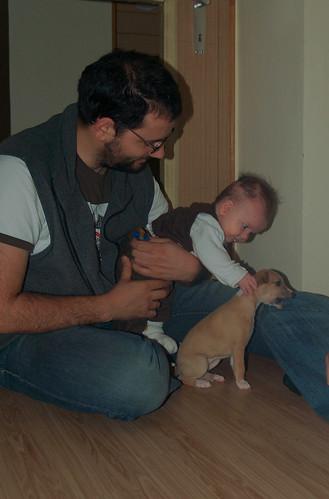 Peter und Lilly mit Anukis