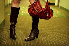 buckle up. (solecism) Tags: red leather hotel al boots alabama auburn hallway purse tracey buckle opelika utata:project=sins utata:sin=lust foxxxylady