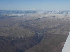 Goodnoe Hills Wind Farm (brewbooks) Tags: windmill washington power windmills electricity geography mooney airborne windfarm windowseat goodnoehills windturbinegenerator i012508 goodnoehillswindfarm best012508