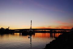 Queensway Bay, Bridge of Long Beach, California (Namisan) Tags: california bridge sunset usa water bay longbeach queensway