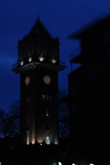 Hither Green Clock Tower - 2 (basswulf) Tags: england building london architecture lensbaby geotagged unmodified lenstagged lewisham clocktower lensbaby20 hithergreen d40 meridiansouth hithergreenhospital 2000x3008 200802 walkinghithergreen 20080202 geo:lat=51448982 geo:lon=0004404