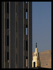 new world (alk_is) Tags: church architecture skyscraper cityscape minaret highrise syria damascus