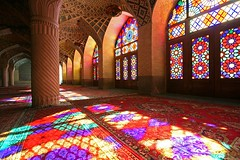Nasir-almolk (Maryam.z) Tags: windows color architecture iran columns persia mosque mezquita shiraz    fars nasir   almulk shabestan  nasiralmolk  4ininterestingnesson20080318 youreat1