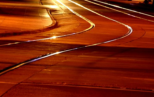 The approaching train