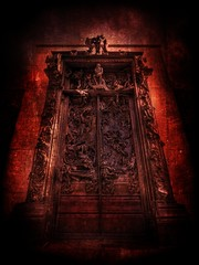 Dante's Gates of Hell (Stuck in Customs) Tags: door travel red sculpture paris france art beautiful crimson museum dark movie de french dead death skull la pain amazing scary kiss comedy heaven kill doors artistic god gates dante fear gothic thinker hell d2x hellish divine adventure funeral horror inferno devil murder porte beyond top100 horrormovie sculptures painful rodin hdr levels tutorial parisian auguste 2007 alighieri gatesofhell gateofhell travelphotography gotohell lenfer firstquality beezlebub theinferno hdrtutorial stuckincustoms laportedelenfer treyratcliff stucktextures catherinezitajones interfno