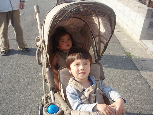 in the stroller together