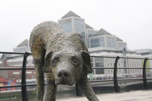Famine Dog Statue