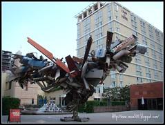moca中庭廣場的裝置藝術