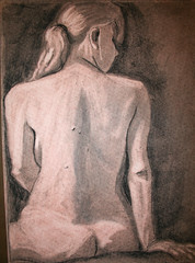 """Female nude back-imprimatura • <a style=""""font-size:0.8em;"""" href=""""http://www.flickr.com/photos/45675389@N00/2493708500/"""" target=""""_blank"""">View on Flickr</a>"""