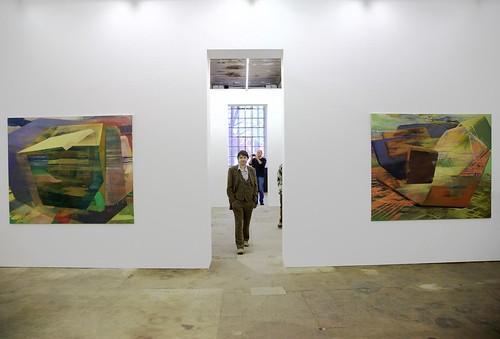 Cubic Worlds bei  Filipp Rosbach Galerie, Leipzig Eröffnung 1. Mai 2008 (Foto: Florian Kern)
