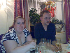 With Jen at mam's 60th (OwenBlacker) Tags: me jen chinese mildenhall owenblacker jennyblower needsgrouping