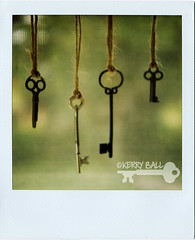 skeleton keys. ((Kerry Ball)) Tags: vintage keys polaroid key antique explore hanging polaroids 600film skeletonkeys sx70sonar hangingbyastring hangingseries