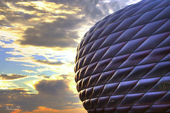 GoLden Day (Mohamed Majki) Tags: sunset work germany munich bayern center arena munchen kuwait 1001nights  fc hdr mohamed allianzarena voluntary in allianz vwc  aplusphoto majki  kvwc kuwaitvoluntaryworkcenter  spiritofphotography