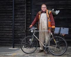 Peter - Stranger 10/100 (AEChown) Tags: stranger 100strangers hastings bicycle christmaslights highvizjacket portrait streetportraits