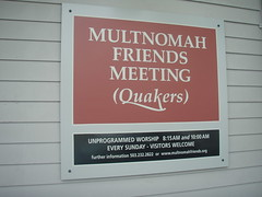 Multnomah Meeting Sign