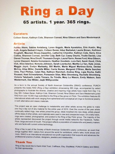bio from ring a day exhibit by amuckdesign