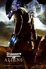 Dinosaurs Vs. Aliens Poster from Perez Hilton