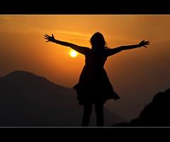 i feel like hugging the sun (PNike (Prashanth Naik..back after ages)) Tags: sunset orange sun india mountains silhouette nikon hills himalayas mussoorie dehradun settingsun shiwalik cloudsend uttarakhan hugthesun pnike