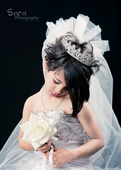 Bride (Sara Abdulaziz ~) Tags: life light shadow party white black cute love girl beautiful face kids canon hair studio photography bride nice long sara child hand princess sweet good magic flight story soso cade princesss angal