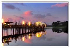 Lower Seletar  Reservoir Magic Hour (Kenny Teo (zoompict)) Tags: longexposure morning light seascape reflection water beautiful lens relax landscape dawn photo yahoo google scenery waterfront best zen bluehour relaxation kenny magichour lowerseletarreservoir 24105f4llens canon5d2 zoompict singaporelowerpiercereservoir flickrhvmind
