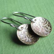 Brass Floral Earrings