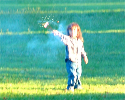 Sparklers At the Park