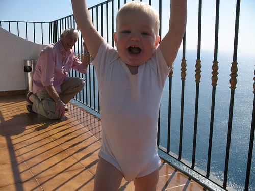Blake in Spain on a Balcony