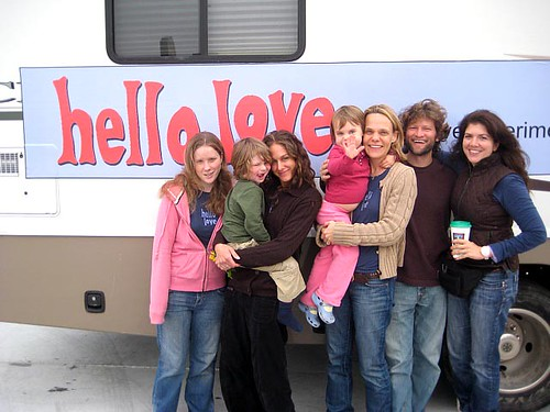 The Whole RV Bunch:  Amy, Aedan, Laura, Kate, Heidi, Benjamin and Edie