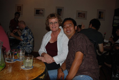 Gaylene and Tu  at Le Pub