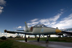 L-39 trainer jet plane, Tartu aviation museum (Lauri Vin) Tags: sky museum plane estonia aviation jet trainer tartu l39 dopplr:explore=sg81